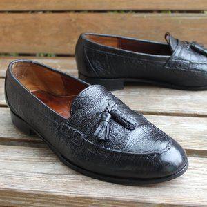 Vintage 80s Dack's Black Antelope Leather Loafer